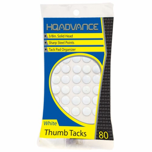 HQ Advance Thumbtacks - White Perspective: front