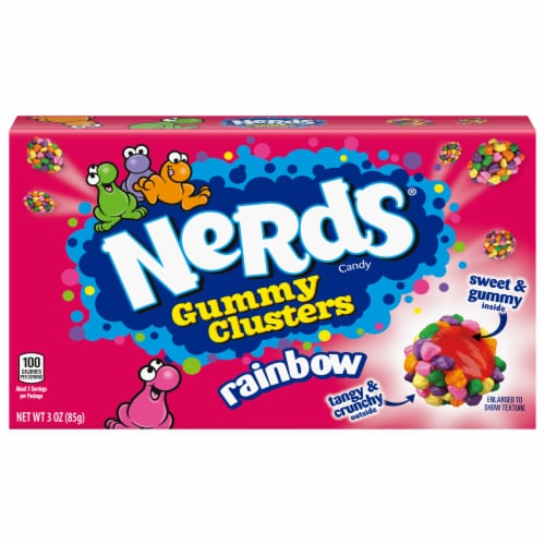 Nerds Rainbow Gummy Clusters Theater Box Perspective: front