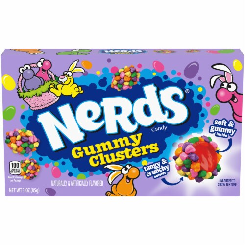 Nerds Gummy Clusters Easter Candy Perspective: front