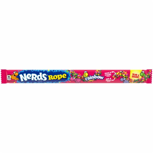 Nerds Rainbow Rope Candy Perspective: front