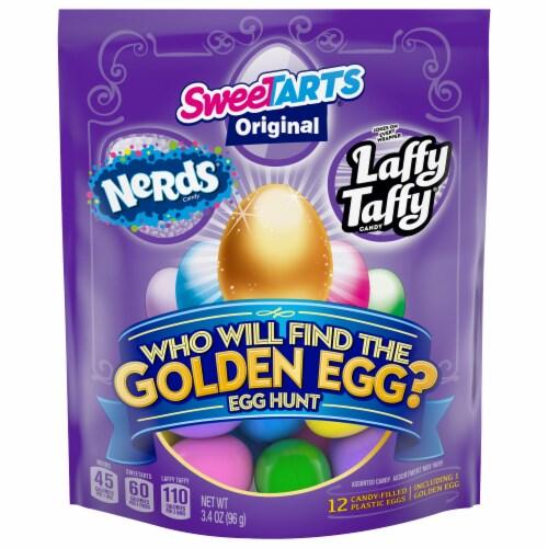 Wonka Golden Egg Hunt Candy-Filled Eggs Perspective: front