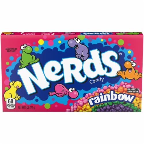 Nerds Rainbow Crunchy Candy Perspective: front