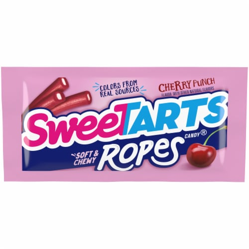 SweeTARTS Cherry Punch Egg Size Ropes Perspective: front