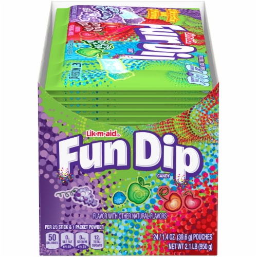 Fun Dip Candy 24 Count Perspective: front