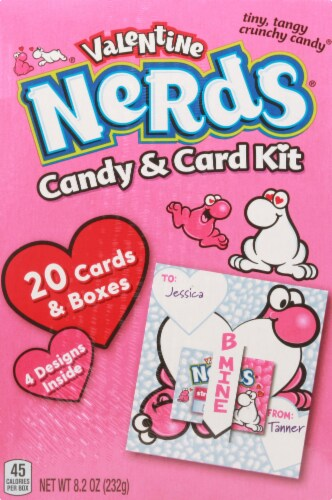 Nerds Valentine Candy and Card Kit 40 Piece Perspective: front