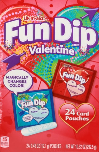 Fun Dip Lik-M-Aid Valentine Candy & Card Kit Perspective: front
