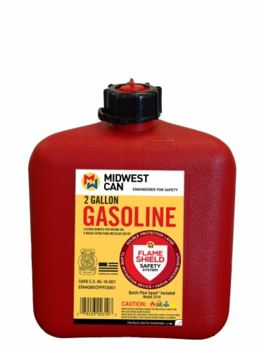 Midwest Can Company Auto Shut Off Gas Can Perspective: front