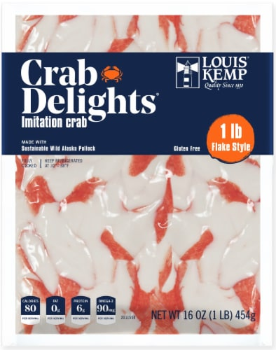 Louis Kemp Crab Delights Flake Style Imitation Crab Perspective: front