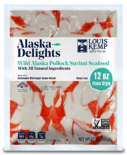 Louis Kemp Alaska Delights Flake Surimi Seafood Perspective: front