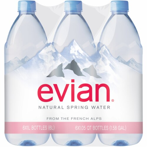Baker S Evian Natural Spring Water 6 Ct 1 L