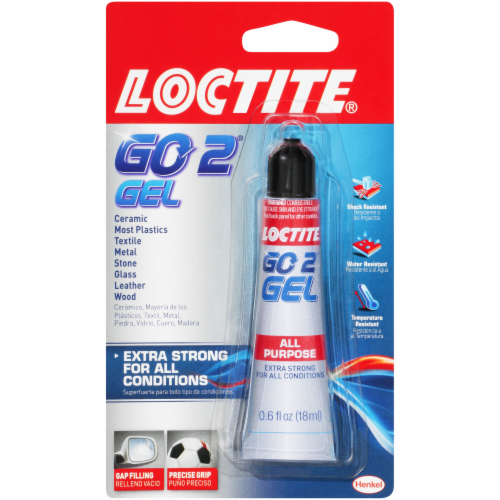Loctite Go2 Gel All Purpose Adhesive Perspective: front