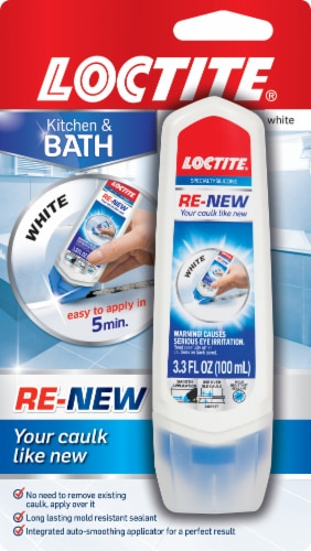 Loctite Re-New Kitchen & Bath Caulk Repair - White Perspective: front