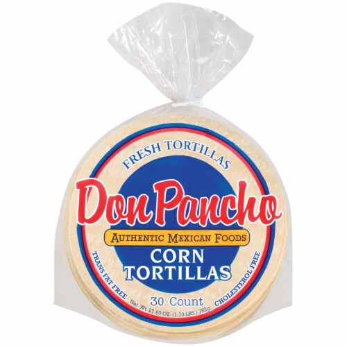 Don Pancho® White Corn Tortillas Perspective: front