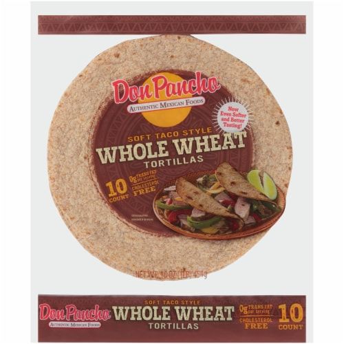 Don Pancho Whole Wheat Tortillas Perspective: front