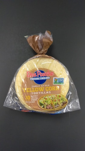 Don Pancho Yellow Corn Tortillas 30 Count Perspective: front