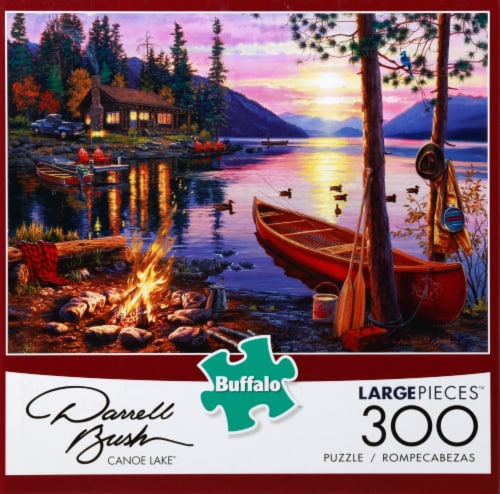 Buffalo Games Darrell Bush Canoe Lake Large Pieces Puzzle Perspective: front