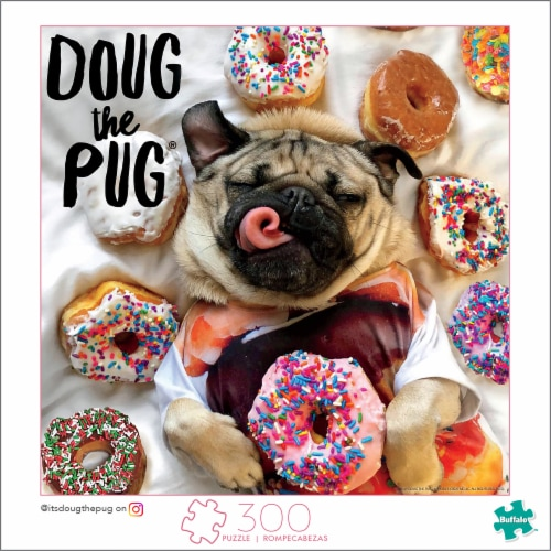 Buffalo Games Donut Doug the Pug Puzzle Perspective: front