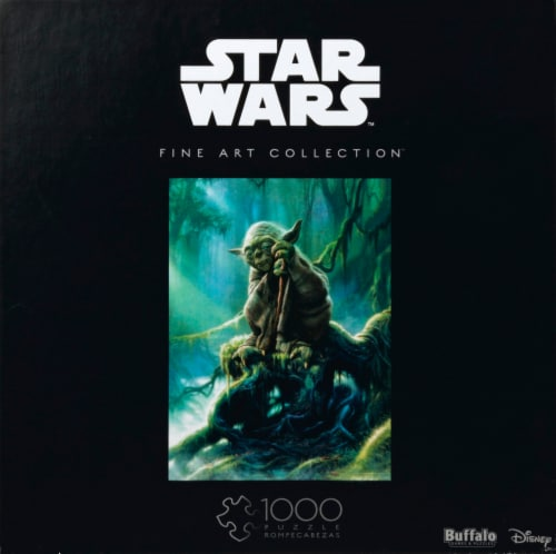 Buffalo Games Star Wars Fine Art Collection Yoda Puzzle Perspective: front
