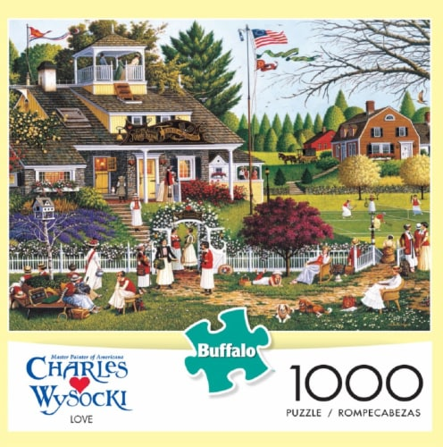 Buffalo Games Master Painter Charles Wysocki Love Jigsaw Puzzle Perspective: front