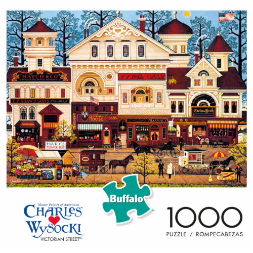 Buffalo Games Charles Wysocki: Victorian Street Jigsaw Puzzle Perspective: front