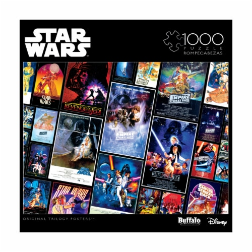 Buffalo Games Star Wars Original Trilogy Posters Collage Puzzle Perspective: front