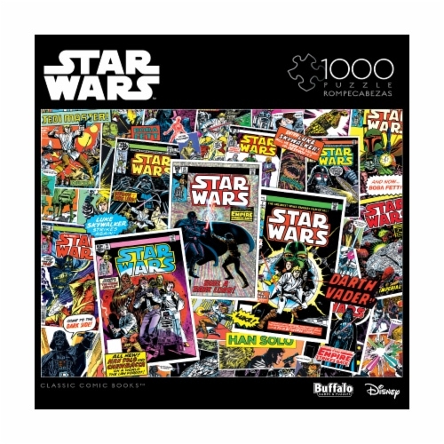 Buffalo Games Star Wars Collage Classic Comic Books Puzzle Perspective: front