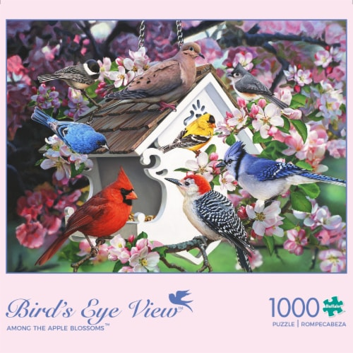 Buffalo Games Birds Eye View Among the Apple Blossoms Jigsaw Puzzle Perspective: front