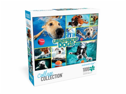 Buffalo Games Collage Collection Underwater Dogs Puzzle Perspective: front