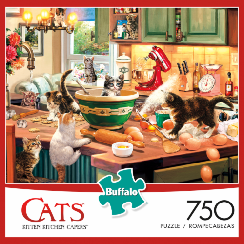 Buffalo Games Cats: Kitten Kitchen Capers Jigsaw Puzzle Perspective: front