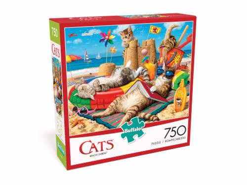 Buffalo Games Cats: Beachcombers Jigsaw Puzzle Perspective: front