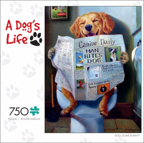 Buffalo Games A Dog's Life Dog Gone Funny Puzzle Perspective: front