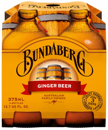 Bundaberg Ginger Beer 4 Cans Perspective: front