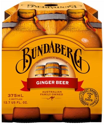 Bundaberg Ginger Beer 4 Cans Perspective: front