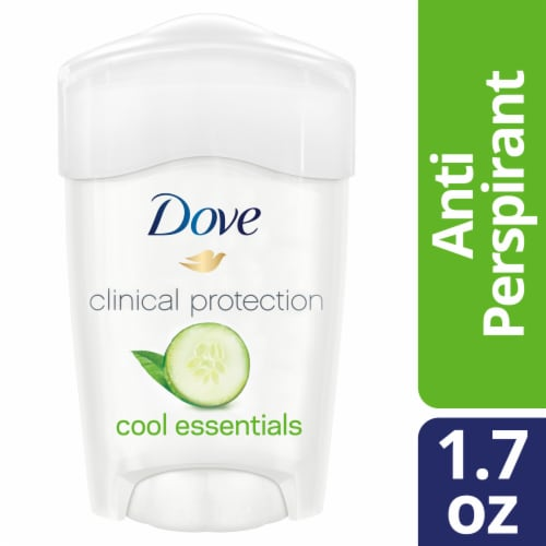 Dove Clinical Protection Cool Essentials Antiperspirant Deodorant Stick Perspective: front