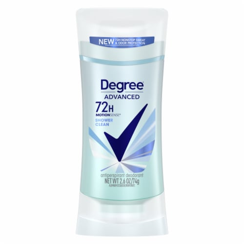 Degree MotionSense Shower Clean Invisible Solid Deodorant Stick Perspective: front