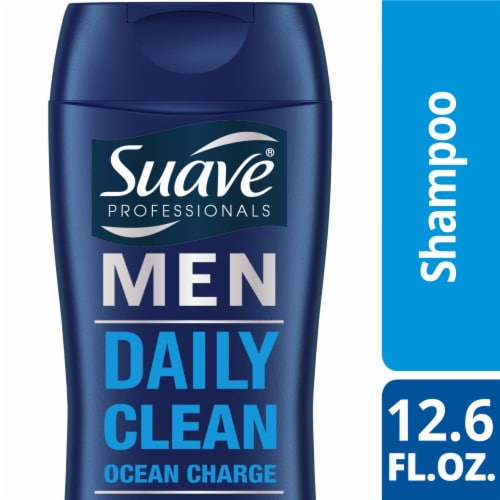 Suave Professionals Ocean Charge Men Daily Clean Shampoo Perspective: front