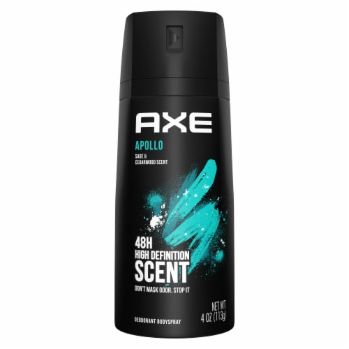 Axe Apollo Sage and Cedarwood 48H Deodorant Body Spray Perspective: front