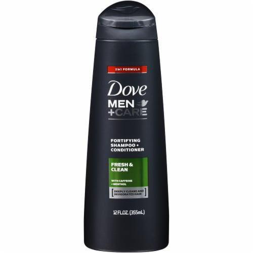 Dove Men+Care Fresh and Clean Fortifying Shampoo & Conditioner Perspective: front