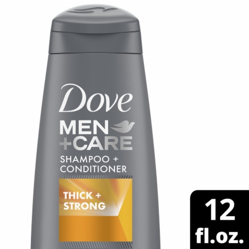 Dove Men+Care Thick & Strong Fortifying Shampoo + Conditioner Perspective: front