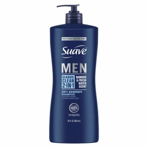 Suave Professionals Men 2-in-1 Classic Clean Anti-Dandruff Shampoo & Conditioner Perspective: front