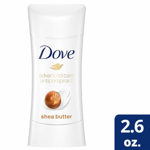 Dove Advanced Care Shea Butter Antiperspirant Deodorant Stick Perspective: front