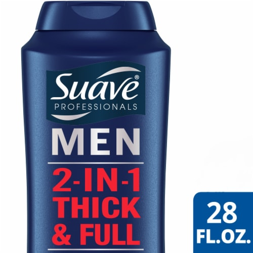 Suave Professionals Men Thick And Full 2 In 1 Shampoo & Conditioner Perspective: front
