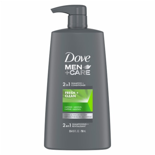 Dove Men+Care Fresh & Clean 2 in 1 Shampoo + Conditioner Perspective: front