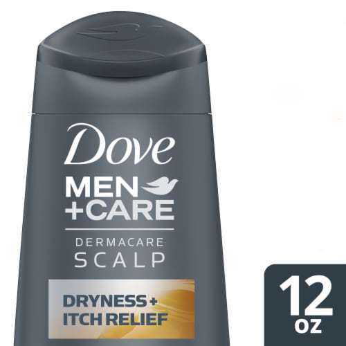 Dove Men + Care 2 in 1 Dryness + Itch Relief Shampoo and Conditioner Perspective: front
