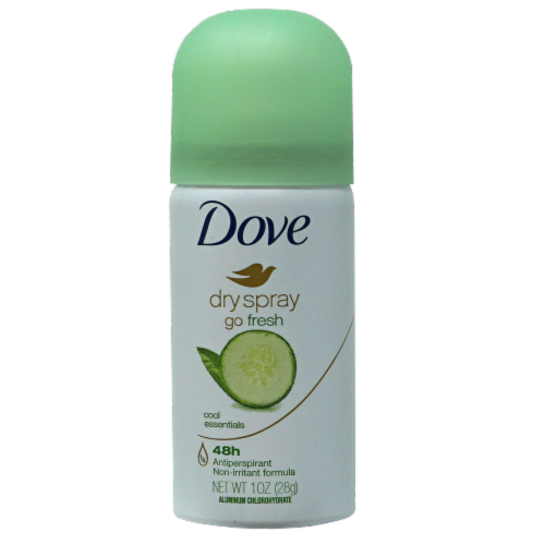 Dove Go Fresh Cool Essentials Dry Spray Antiperspirant Perspective: front