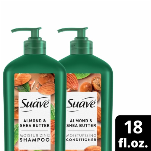 Suave Almond + Shea Butter Shampoo and Conditioner Set 2 Count Perspective: front