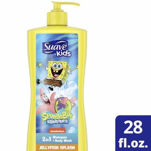 Suave Kids SpongeBob SquarePants Nickelodeon Jellyfish Blast Shampoo and Body Wash Perspective: front