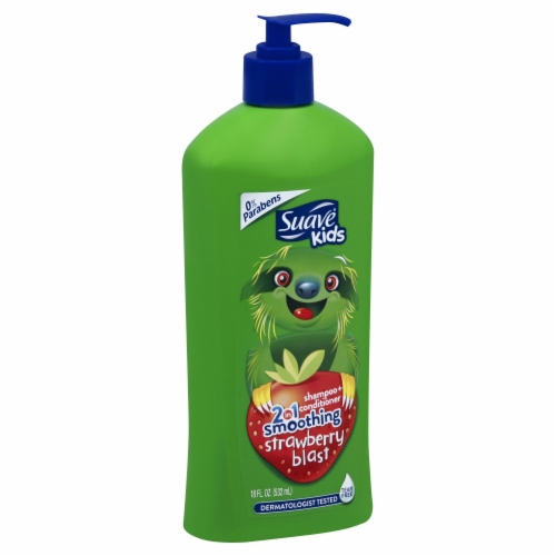 Suave Kids Strawberry Blast 2-in-1 Shampoo + Conditioner Perspective: front