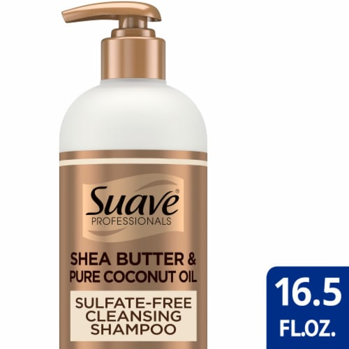 Suave Professionals Natural Shea Butter & Pure Coconut Oil Shampoo Perspective: front