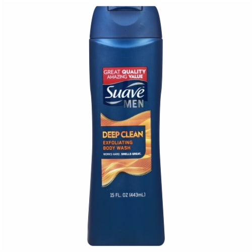 Suave Men Deep Clean Exfoliating Body Wash Perspective: front